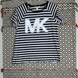 Michael Kors Black and White Print Shirt